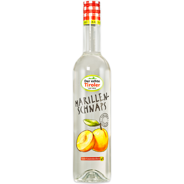 Tyrolean Apricot Schnapps from The Tiroler Kräuterdestillerie